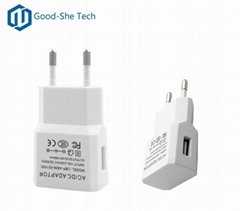 5v 1a usb wall charger 5W 1000mA portable travel adapter for