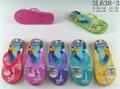 Summer cartoon princess printed multicolors eva flip flops slippers for kids gir 4