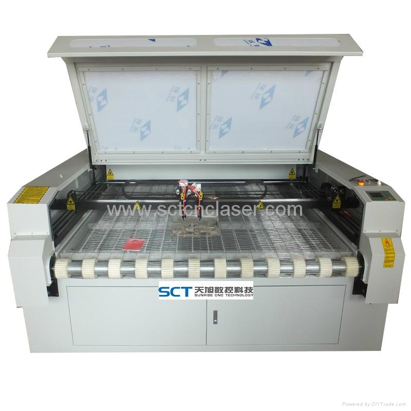 SCT-F1810 Double head textile laser cutting machine 2