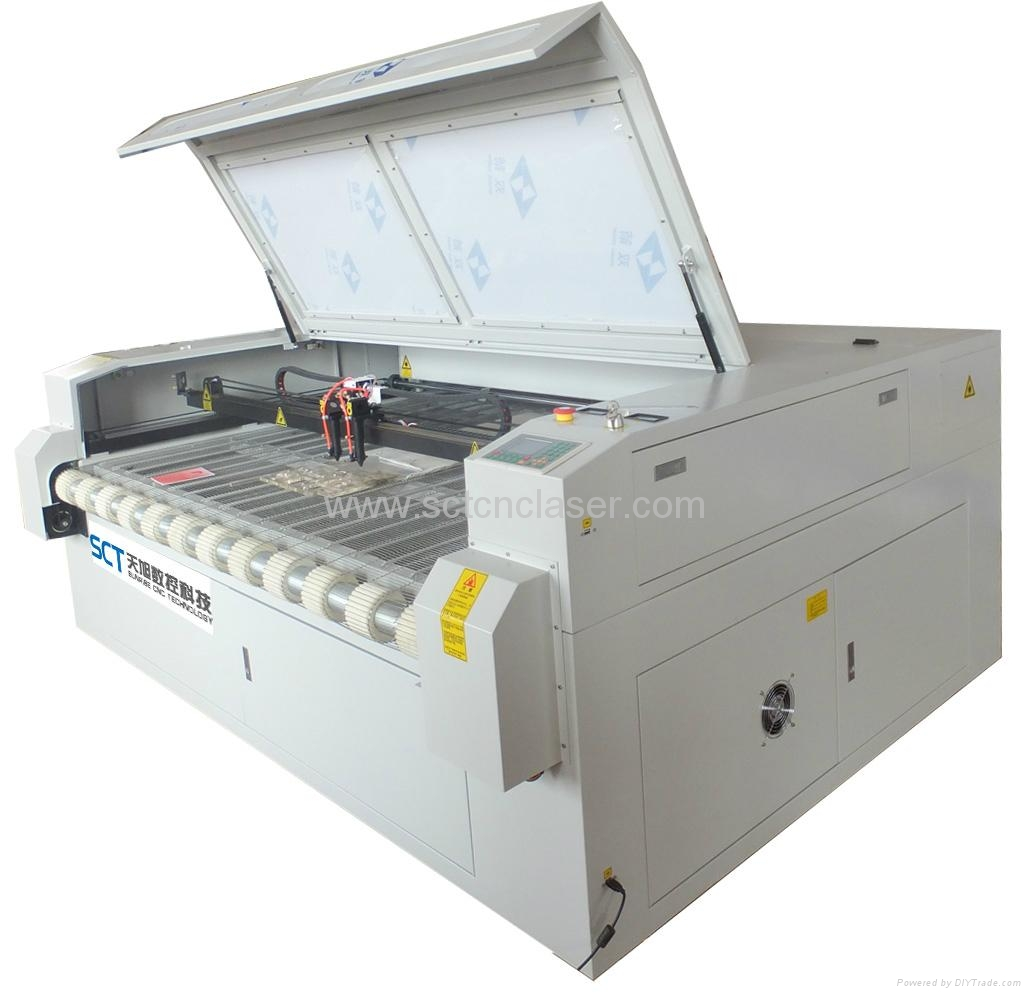 SCT-F1810 Double head textile laser cutting machine 1