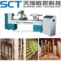 SCT-1500A Horizontal CNC Wood Lathe Machine