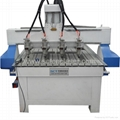 SCT-D1525 3 axis multi spindles wood machinery CNC carving router machine
