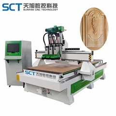 SCT-W1530Q3 Wood Furniture Carving ATC CNC Router Machine