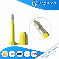 Security lock container door bolt seal