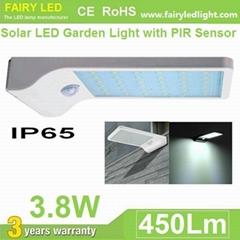 Solar LED Wall Light 3.8W with PIR Motion Sensor Day Light Sensor IP65 Waterproo