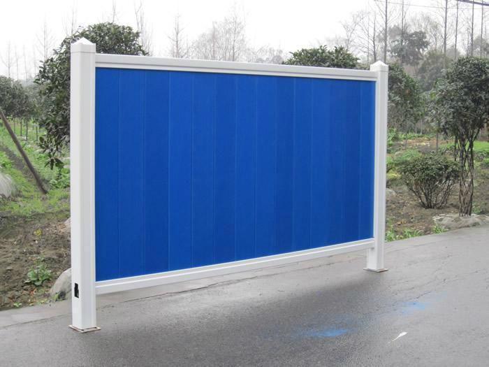 厂家直销PVC围挡蓝色绿色市政围挡 4