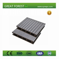 Good Price recyclable non-fading nature color wood plastic composite flooring