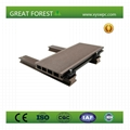 Good Price recyclable non-fading nature color wood plastic composite flooring 2