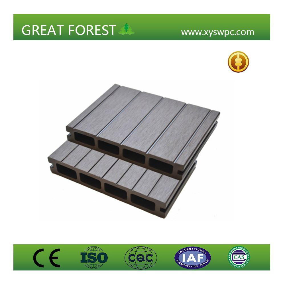 Good Price recyclable non-fading nature color wood plastic composite flooring 3