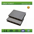 Outdoor Durable anti-slip hollow wpc decking 1