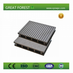 Outdoor Durable anti-slip hollow wpc decking