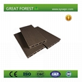 Outdoor Durable anti-slip hollow wpc decking 2