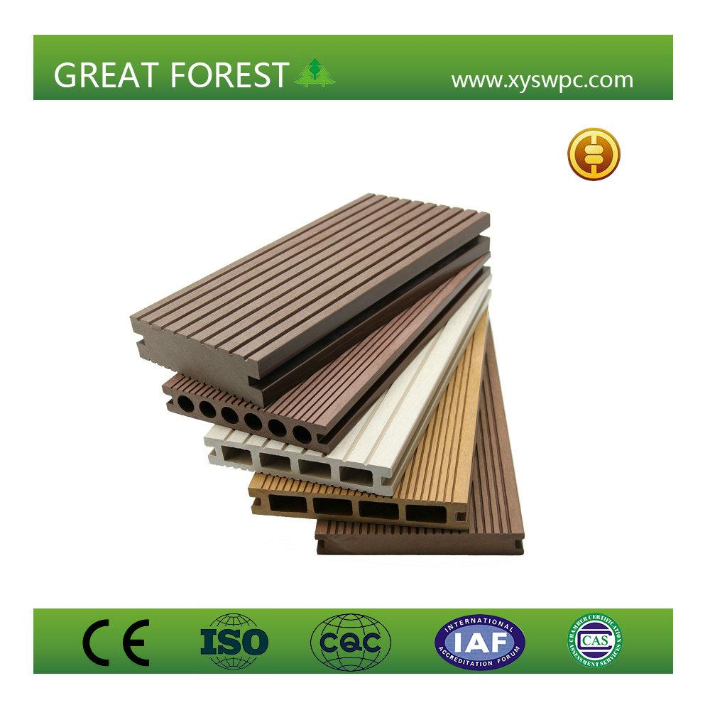 artificial crack-resistant anti-corrosion eco-friendly wpc decking floor 2