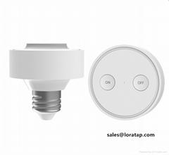 RF control LoraTap wireless light bulb adapter