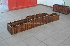 北京防腐木花箱花槽碳化木花箱定做