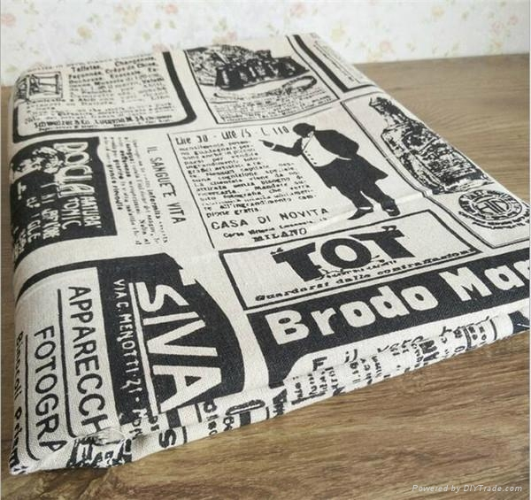 wholesale Industrial Times Newspaper printed linen cotton fabric for table 3