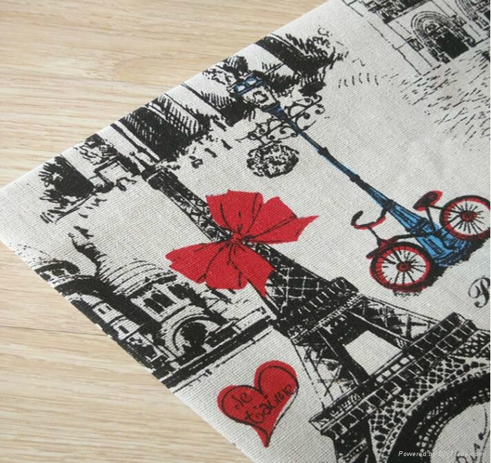 wholesale bulk towel printed cotton linen fabric with cheap price 1