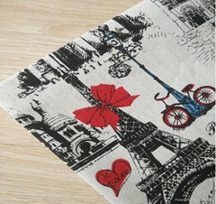 wholesale bulk towel printed cotton linen fabric with cheap price