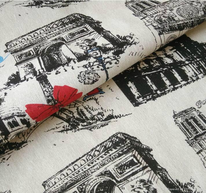 wholesale bulk towel printed cotton linen fabric with cheap price 2
