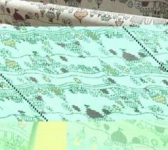 cotton canvas castle print look linen