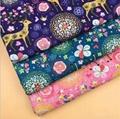 custom digital Milu deer printing linen cotton Christmas fabric 4