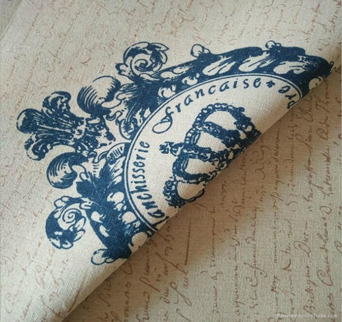 zakka crown royal printed cotton linen fabric manufacturer 4