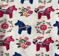 Wholesale beauty Cotton Linen horse print cushion Fabric with low MOQ 5