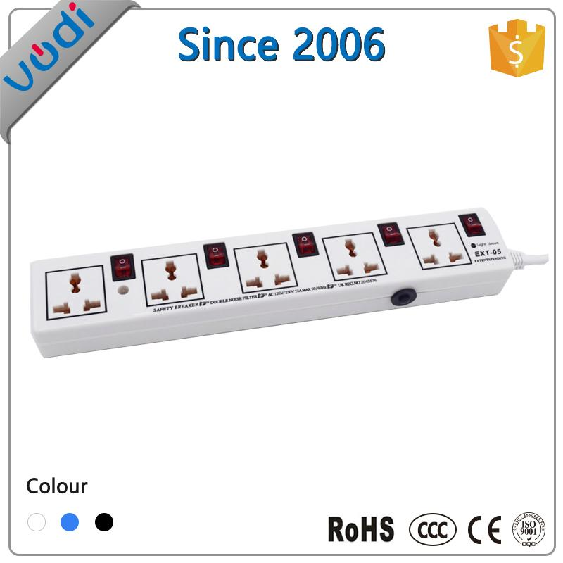 Universal socket extension cord power strip 3