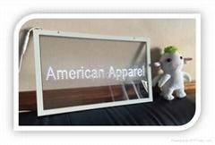Single Color Transparent Glass LED Sign