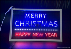 Glass LED Sign Transparent LED Christmas