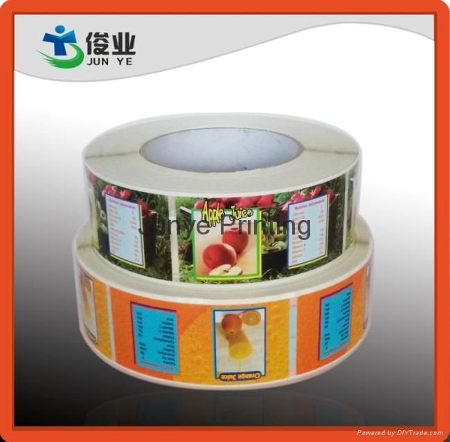 Colorful Fruits Juice Labels 1