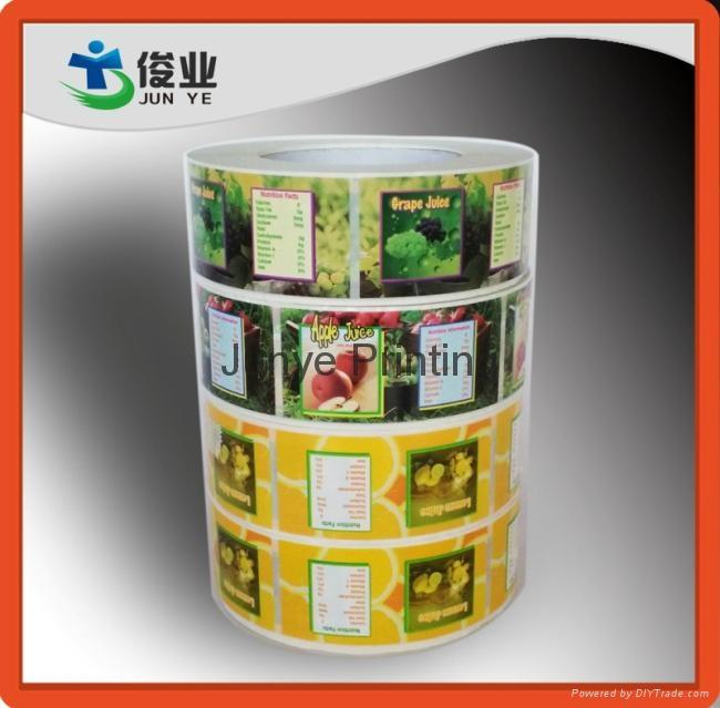 Colorful Fruits Juice Labels 3