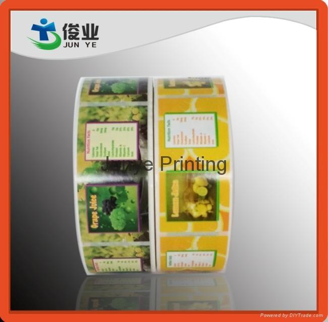 Colorful Fruits Juice Labels 4