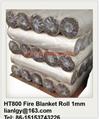 HT800 Fiberglass fire blanket roll  1mm 2
