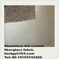Aluminium foil coated fiberglass fabric