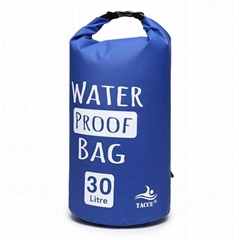 Outdoor waterproof Dry bag 30Ligh quality polyester travel foldable backpack