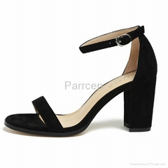 Womens One Strappy Chunky Block Heel Sandal Shoes