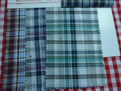 100% cotton shirting yarn dyed cheap fabric