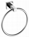 Round style shining towel ring stainless