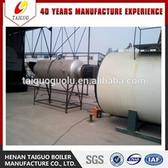 Energy Saving 8000KG Oil Gas Fired Steam Boiler With Three-passes Wet-back Corru