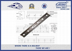 UIC54标准鱼尾板铁路紧固件
