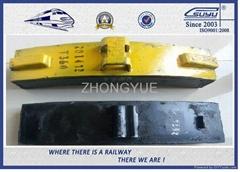 Low Friction Composite Railway Brake Blocks Cast Iron / Locomotive Brake Shoe