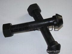 發黑顏色軌道魚尾螺栓
