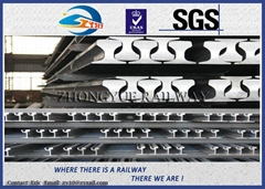 Customized 6m - 25m 700 / 900A / 1100 Railroad Steel Rail , UIC860 Standard