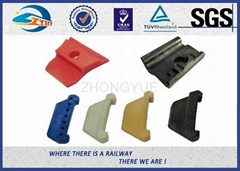 Reinforced Nylon 66 Rail Insulator Angle Guide Plate Plastic And Rubber Part