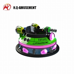 Hot sale unique appearance UFO Type Stainless Steel Inflatable bumper car for ki