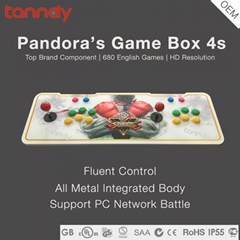 HD Metal Box Classical fighting game machine console Pandora box 4S arcade game
