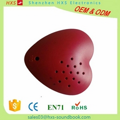 Small Heart-shaped Recordable Sound Chip for plush toy and doll simulation heart