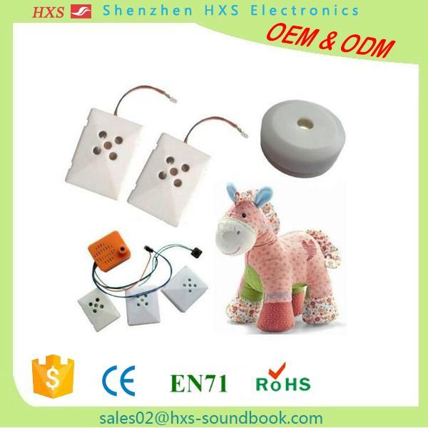 rechargeable battery via usb sound music led light module for kids plush toys 1