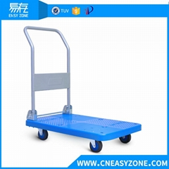 Easyzone 250kgs heavy duty industrial pull cart dolly cart